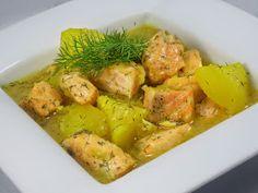 Guiso de salmon con patatas Olla GM