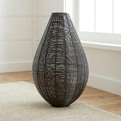 Myron Metal Floor Vase | Crate and Barrel
