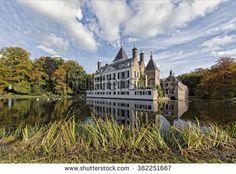 Castle in autumn - stock photo