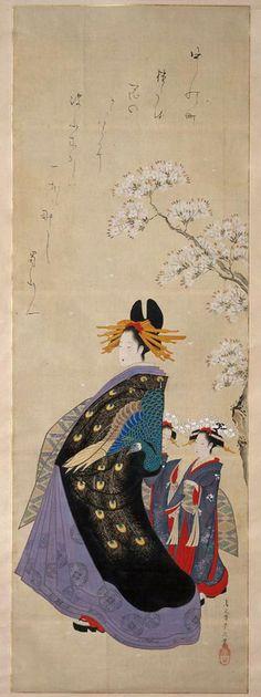 (Japan) by Chobunsai Eishi (1756 -1829). woodblock print. ukiyo-e.