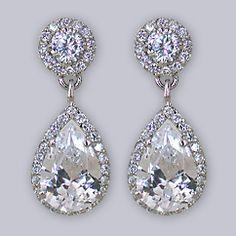 vintage teardrop earrings