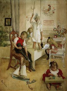 Carl Larsson -- Christmas Morning
