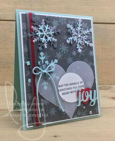 Snowflake Joy | Stampin\' Up! | Snowflake Sentiments #literallymyjoy #snowflakes #hearts #joy #holiday #christmas #snow #bling #ChristmasAroundTheWorldDSP #2017HolidayCatalog