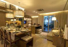 Living ampliado do apartamento de 3 dormitórios do HomeClub Guarulhos
