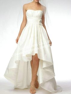 Asymmetric A-Line Strapless Wedding Dress Short Front Long in back Discount Cw180 on AliExpress.com. $139.00