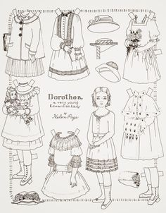 paper doll coloring page american girl printables - American Girl Coloring Pages Julie