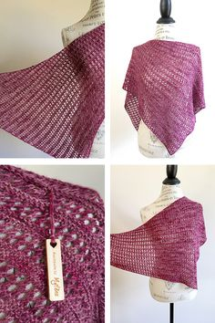 Mylène's Herald shawl with Kettle Yarn Co. Westminster - knitting pattern by Janina Kallio.