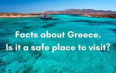 Facts about Greece. Is it a safe place to visit? Best Things to do in Greece Stuff To Do, Things To Do, How To Memorize Things, Safe Place, Greece Travel, Travel Tips, Safety, Places To Visit, Facts