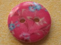 10 kleine KNÖPFE pink 13mm (6406-18x) Knopf Blumen
