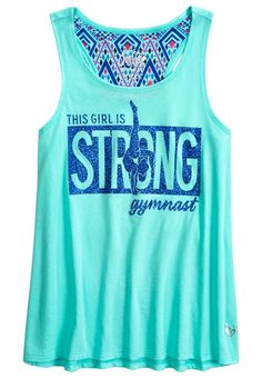 Racerback Tank (original price, $24.90) available at #Justice