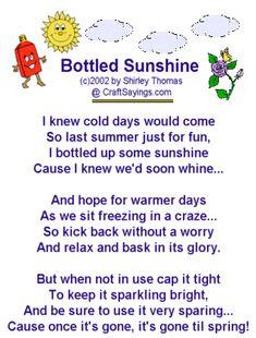 Bottled Sunshine -- Winter Craft Project -- Gag Gift