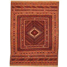Herat Oriental Afghan Hand-woven Vegetable Dye Tribal Wool Soumak Kilim (4'10 x 6'4) - Free Shipping Today - Overstock.com - 20228167 - Mobile