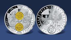 1000 Lat Pieniądza Polskiego to kolekcja pamiątkowych medali platerowanych selektywnie srebrem oraz złotem najwyższej próby 999/1000.