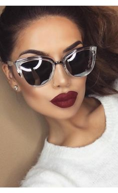 Quay - My Girl Sunglasses Clear (Whitefoxboutique) Kathleen Lights wear these? I want!