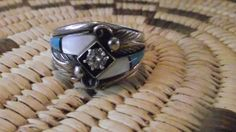 Native American jewelry sterling  ring 13 half  jewelry turquoise southwest jewelry Navajo  quarter horse by LittleCherokeeValley on Etsy