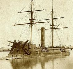 CSS Stonewall - built in France, commissioned 1865, laid up in Washington Navy Yard, D.C. after the end of Civil War then later sold to Japan.