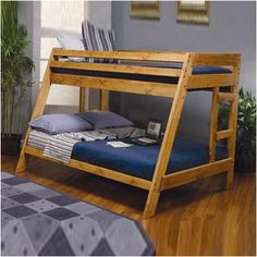 Wildon Home ® San Anselmo Twin over Full Bunk Bed with Built-In Ladder $648.35