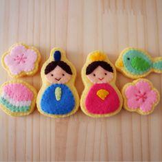 フェルトのひな祭りアイシングクッキー♪