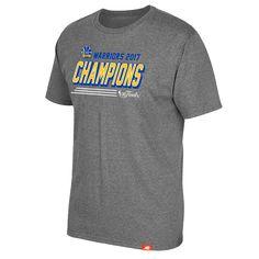 Golden State Warriors Sportiqe Men's 2017 NBA Finals Champions Comfy Tri-blend Tee - Grey
