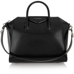 Givenchy Antigona medium leather tote (€1.785) ❤ liked on Polyvore featuring bags, handbags, tote bags, givenchy, purses, totes, black, zip tote bag, purse tote and leather man bags