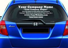 Custom Car Decals For Window Your Logo Personalized Made To Order - Business car window sticker