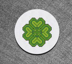 Cross Stitch Pattern Clover leaf Instant Download от Kiokiz