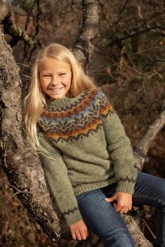 Ravelry: Afmæli - anniversary sweater pattern by Védís Jónsdóttir for… Fair Isle Pattern, Vest Pattern, Free Pattern, Icelandic Sweaters, Wool Sweaters, Sweater Knitting Patterns, Knit Patterns, Knitting For Kids, Baby Knitting