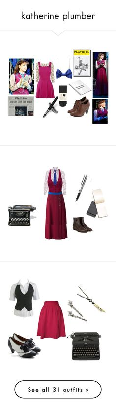 """""""katherine plumber"""" by rebellious-ingenue ❤ liked on Polyvore featuring Wallis, Oasis, Aspinal of London, modern, newsies, katherineplumber, RED Valentino, VILA, J.TOMSON and Paco Rabanne"""