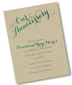 Our Anniversary Invitation