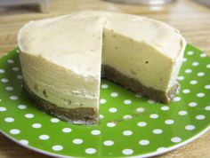 """Classic Raw Cheesecake     ½ C zucchini, peeled      ½ C raw cashew butter     2½ TB fresh lemon juice     2½ TB raw honey     2 dates     ½ tsp vanilla extract     ¼ tsp sea salt      In a mini food processor, blend zucchini until finely processed.     Add the lemon juice, honey, dates, vanilla, and sea salt. Blend till smooth.     Add cashew butter & blend until combined.     Pour into a 4 """" spring-form pan, over a raw graham cracker crust if desired. FREEZE OVERNIGHT     Serve frozen."""