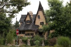 The Spadena House, also known as The Witch's House, is a storybook house in Beverly Hills, California. Photo, 2012 by Carol M. Highsmith. The Jon B. Lovelace Collection of California Photographs in Carol M. Highsmith's America Project, Library of Congress, Prints and Photographs Division.