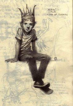 """King JacK"" King of Sorrow by Christine MacTernan Art And Illustration, Character Illustration, Illustration Inspiration, Comic Kunst, Comic Art, Art Sketches, Art Drawings, Arte Horror, Character Drawing"