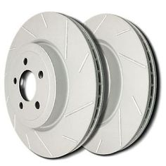 SP Performance  T55-105 Slotted Brake Rotors Gray ZRC Pair