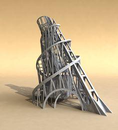 3d model monument tower tatlin s