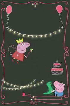 Cumple pia Peppa Pig Birthday Invitations, Peppa Pig Birthday Cake, 3rd Birthday, Frozen Themed Birthday Party, Birthday Party Decorations, Party Themes, Invitacion Peppa Pig, George Pig Party, First Birthdays