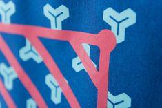 "MAMIMU Manhole City Laptop Tote Bag : Tokyo : Screen-print Detail. ""Excellent quality & craftsmanship!"" #laptopbag #screenprint #bag Graphic Patterns, Blue Patterns, Laptop Tote Bag, Simple Colors, Electric Blue, Canvas Leather, Screen Printing, Tokyo, Detail"