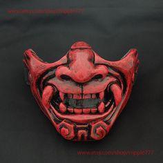 Half cover Knight Warrior Samurai Mask Airsoft mask | Etsy