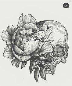 ~•♠Maggy♀ Biersack♠•~ Skull Tattoos, Body Art Tattoos, Tattoo Drawings, Cool Tattoos, Art Drawings, 16 Tattoo, Tatoo Art, Back Tattoo, Desenho Tattoo