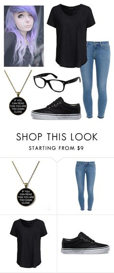"""Untitled #30"" by x-sweetea-x ❤ liked on Polyvore featuring Paige Denim, New Look, Vans and Ray-Ban"