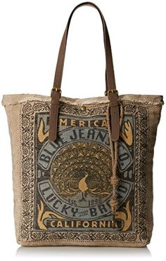 Lucky Brand California Travel Tote,Blue,One Size