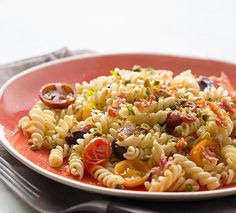 A spin on Bob Harper's healthy tomato olive pasta...with prosciutto!