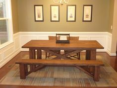 X Base Dining Table Reclaimed Oak or Pine (Handmade) by ToddManringDesigns on Etsy https://www.etsy.com/listing/113519891/x-base-dining-table-reclaimed-oak-or