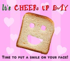 Time to put a smile on your face with this cheer up day ecard. Free online Put A Smile On Your Face ecards on Cheer Up Day All Smiles, Cheer Up, Special Day, Ecards, Gifs, Events, Face, E Cards, The Face