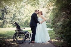 Wheelchair wedding photography