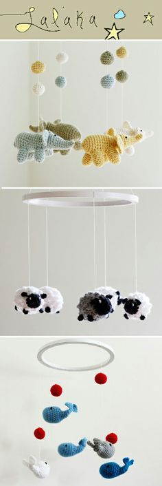 Crocheted mobiles