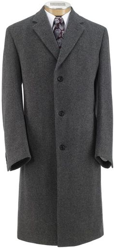 $450, Heathered Merino Topcoat by Jos. A. Bank. Sold by Jos. A. Bank. Click for more info: http://lookastic.com/men/shop_items/81985/redirect