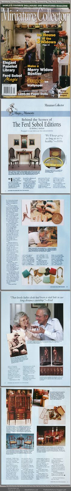 Miniature Collector magazine - The Ferd Sobol Editions Visit the website: SobolEditions.com visit the blog: TheSobolEditions.blogspot.com