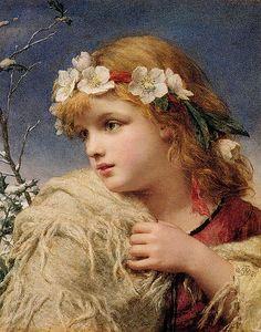 "William Charles Thomas Dobson (1817-1898), ""Christmas Roses"", 1881 | Flickr - Photo Sharing!"