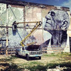 Street art poster Jose Parla x JR Wrinkles of the City, Havana, Cuba Murals Street Art, Street Art News, Street Art Graffiti, Street Artists, Urban Street Art, Urban Art, Cuba Street, Cinema, Havana Cuba