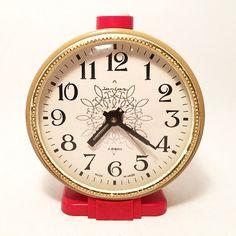 Trabalho Vintage Relógio Jantar 4.3 relógio Soviética por RarityFromUSSR